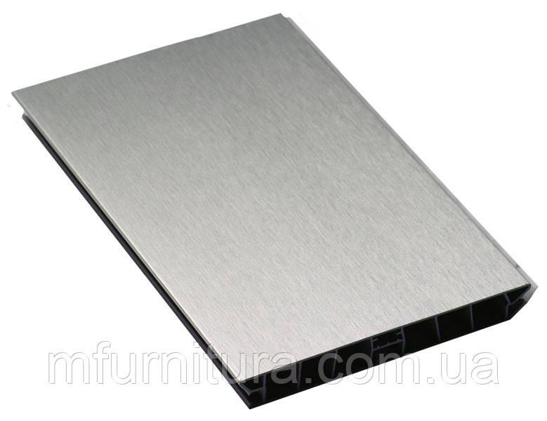 Цоколь пластиковый / 4,0 м*100мм / под алюминий (браш) - Scilm (Италия)