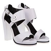 Босоножки женские Angelo Vani (на высоком каблуке, роскошные, изысканные, модные, белого цвета)
