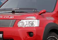 Накладки на фары  AURA  Nissan X-Trail 07+