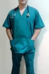 Костюм хирургический мужской (V-образный вырез) - КХМ (Украина)