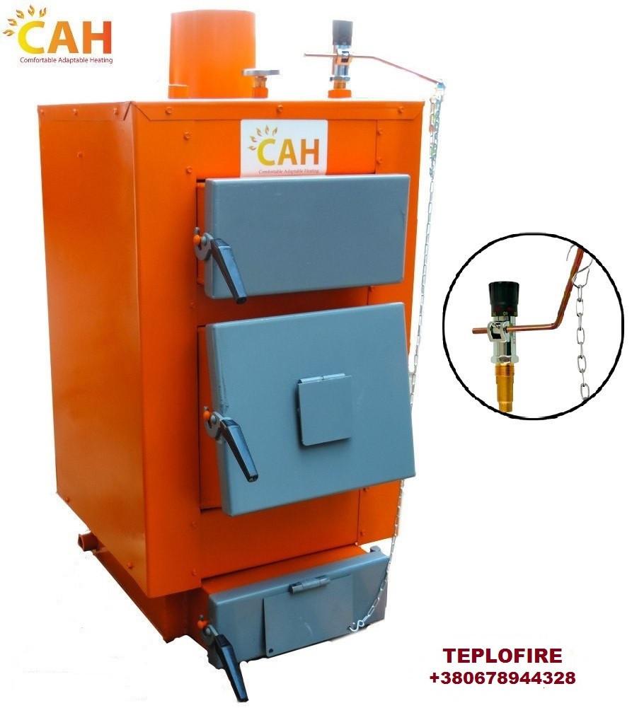 Котёл твердотопливный длительного горения САН Эко-У-М 10 кВт с механическим регулятором тяги (сталь 4мм)