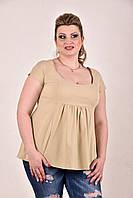 Женская блузка больших размеров 0278 горчица 48-74