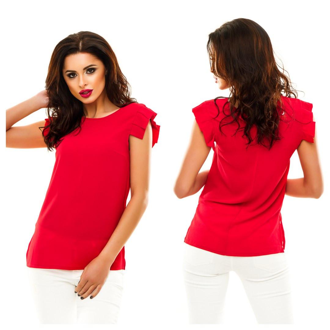 fe887acedce Красивая женская шифоновая блуза красная