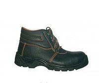 Ботинки с металлическим подноском, натуральная кожа и утеплитель
