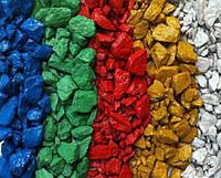 Щебень декоративный цветной