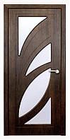 Дверь межкомнатная остекленная Пальмира (Тик)