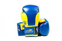 Боксерские перчатки PowerPlay Ukraine (3021) Blue/Yellow