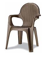Кресло пластиковое Intreciato бронза
