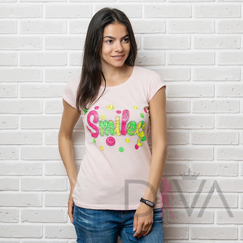 Стильная футболка женская 17F-028peach футболки  от производителя