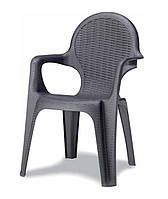 Кресло пластиковое Intreciato антрацит