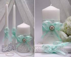 Свадебные свечи Mint