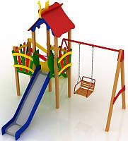 """Детский комплекс Kidigo """"Праздник"""" высота горки 1,5  м"""
