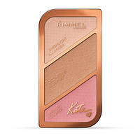 RM Kate Sculpting Palette - Набор для скульпторизации лица (001-Coral Glow/Коралловое свечение), 18,5 г