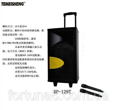 Колонка с аккумулятором temeisheng 129t, фото 2