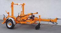 Прицеп для перевозки кабеля с гидравлическим наклоном, нагрузка 4000 кг.