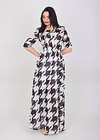 Легкое шифоновое платье с 3/4 рукавчиком