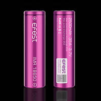 Аккумулятор 18650 / IMR / 2500 mAh / без защиты / 35 А / плоский + / Efest Purple