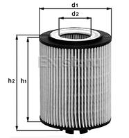 Фильтр масляный Knecht (Mahle Filter) OX 174 D аналог OE651/2