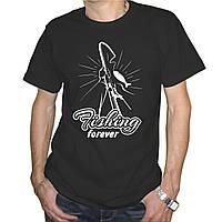 """Мужская футболка """"Fishing Forever"""""""