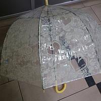 Зонт женский прозрачный Сердце