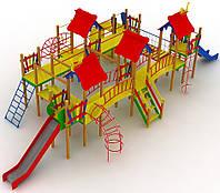 """Детский комплекс Kidigo """"Остров"""" высота горок 1,2 и 1,5 м"""