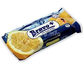 Салфетки влажные Bravo 15шт Лимон