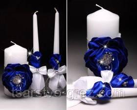 Свадебные свечи Пион