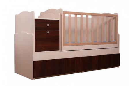"""Ліжко трансформер """"Дадон"""" 5в1 Венге світлий/Горіх темний (ТМ Вальтер), фото 2"""