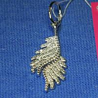 Серебряная подвеска Крылья с цирконием 3059, фото 1