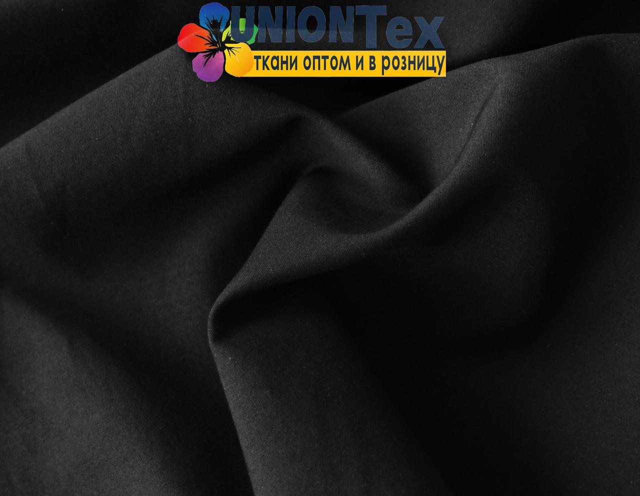 Рубашечная ткань стрейч черная