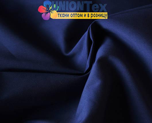 Рубашечная ткань стрейч темно-синяя, фото 2