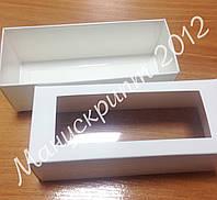 Коробка для макарун  белая с окном