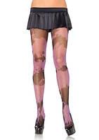 Эротическое секси белье Leg Avenue Колготки с черными и розовыми разводами | Секс шоп - интим магазин Импери.