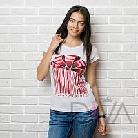 Простая белая футболка Арт. MAYK-6918white женские топы и майке в Украине