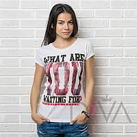 Футболка женская MAYK-7064white купить футболки оптом