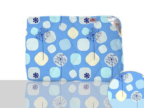 Одеяло силиконовое двуспальное (синее)