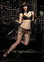 Эротическое секси белье Leg Avenue Комплект Леопард | Секс шоп - интим магазин Импери.