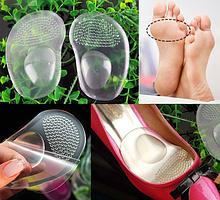 Силіконові вкладиші для взуття на клейкій основі