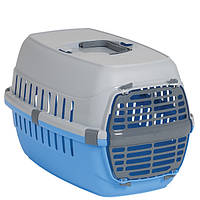 Moderna МОДЕРНА РОУД-РАННЕР 1 переноска для собак и кошек, с пластиковой дверью, 51х31х34 см, голубой