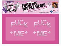 Games Наклейки на тело из камней Joanna Angel Fuck Me Nipple Gems | Секс шоп - интим магазин Импери.