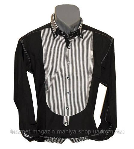 Рубашка мужская стиль мажор приталенный крой