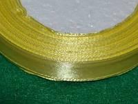 Лента атласная 1,2 см жёлтый 16203