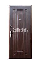 """Двери входные """"Медведь М1"""" 860*2040 мм. (Темный орех)"""