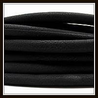 Шнур замшевый диаметр 7 мм, цвет черный