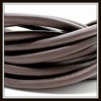 Шнур кожаный диаметр 7 мм, цвет шоколад (20 см)