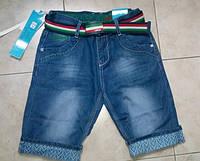 Бриджи джинсовые подростковые для мальчика  с ремнем рост 134-164  Венгрия
