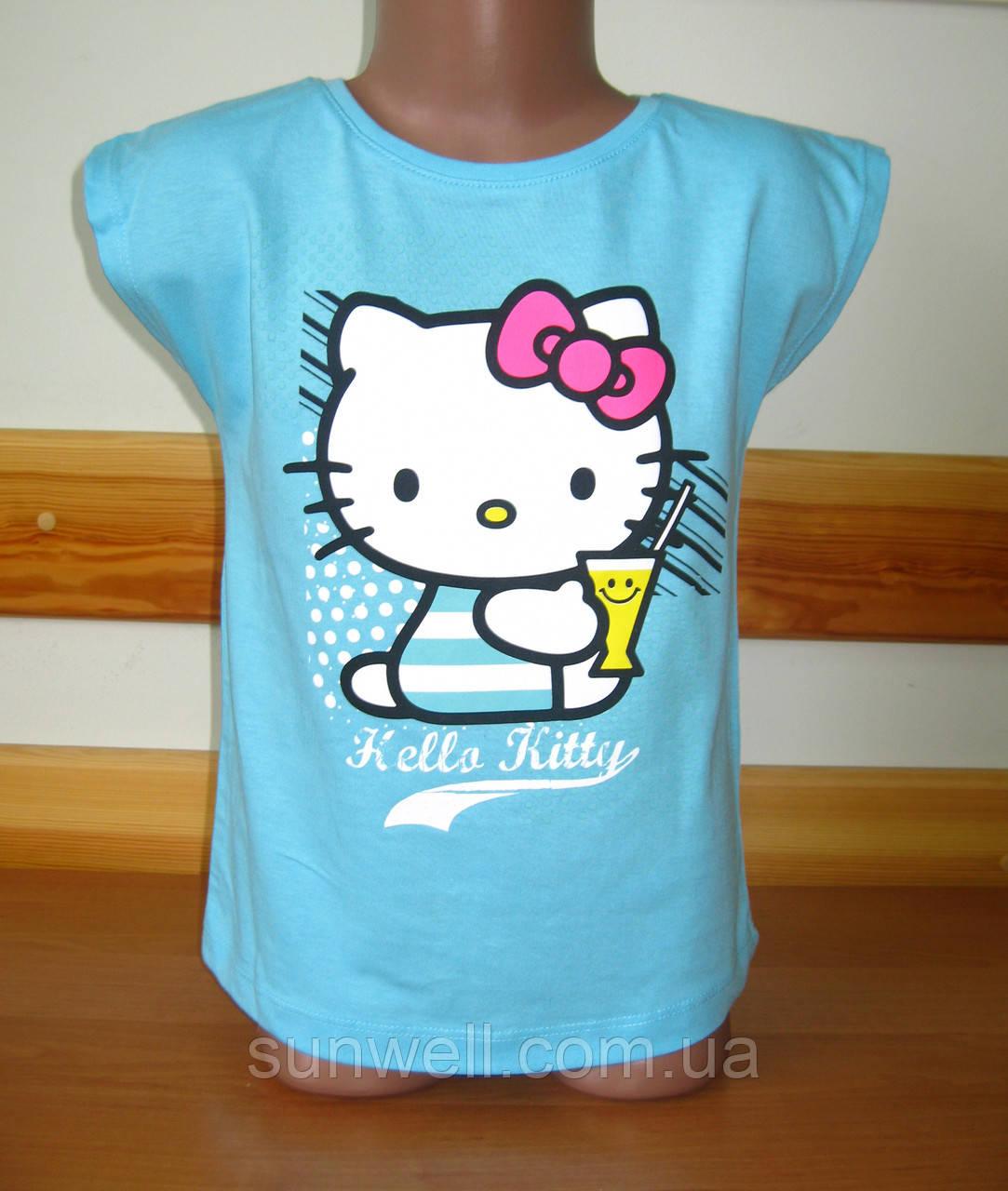 Детская футболка для девочки Китти, Hello kitty Sun Sity Франция 3-6лет