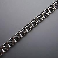 Серебряный мужской браслет, 210мм, 10 грамм, плетение  Бисмарк