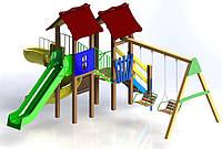 """Детский комплекс Kidigo """"Авалон"""" с пластиковой горкой высотой  1,5  м"""
