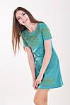 Изумительное летнее платье в зеленом цвете с вышивкой крестиком , фото 2